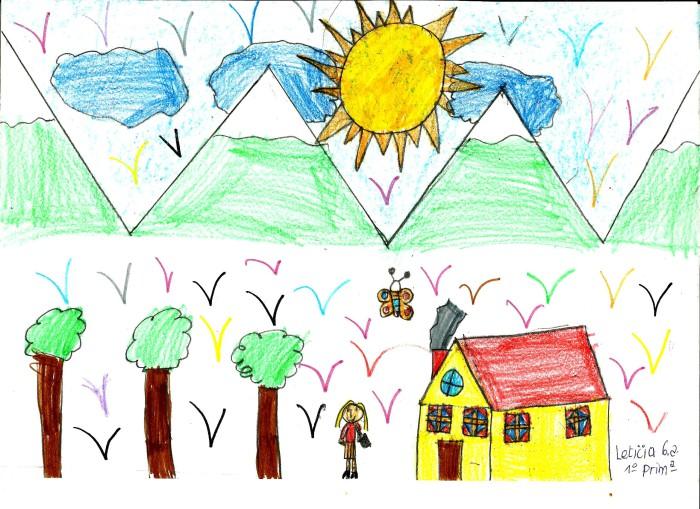 dibujo infantil de paisaje