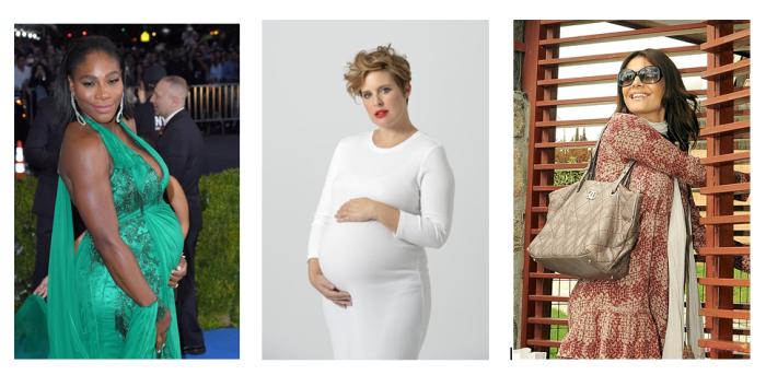 Famosas luciendo embarazo