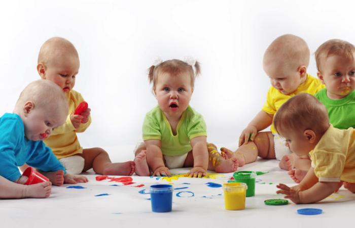 Bebés en la guardería