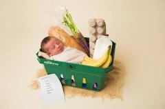 El bebé que nació en el supermercado se hace viral