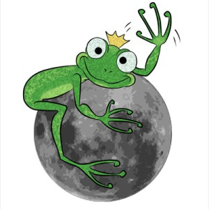 Dibujo una rana en la luna