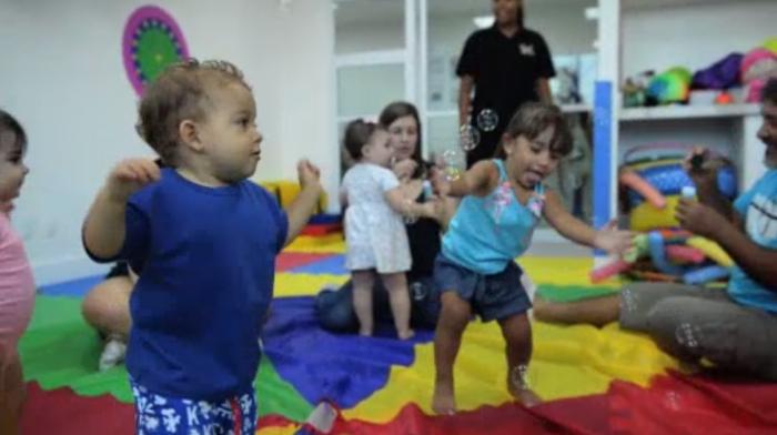 Gimnasio para bebés en Brasil