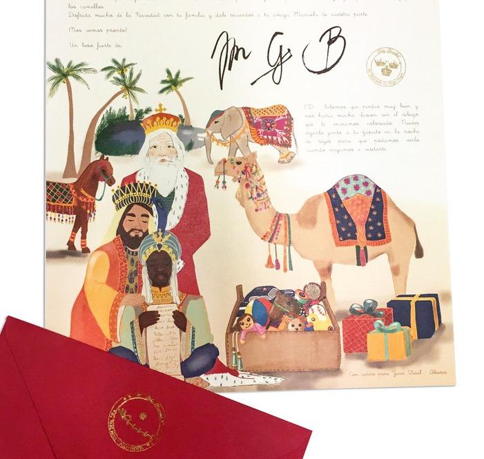 Los Reyes Magos escriben las cartas a los niños
