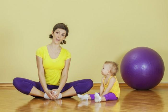 ejercicio con el bebé