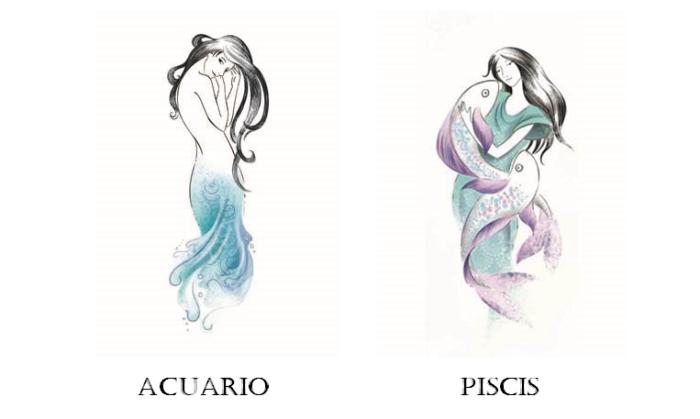 Acuario y Piscis