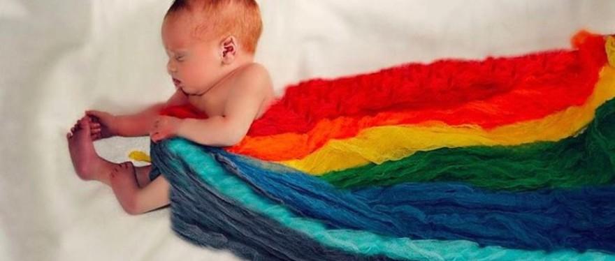 bebés y los colores